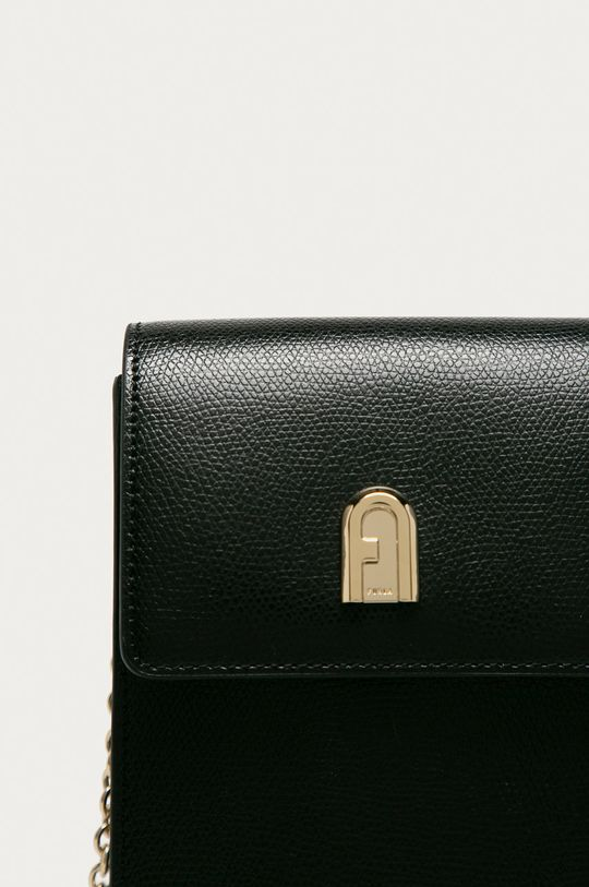 Furla - Kožená taška černá