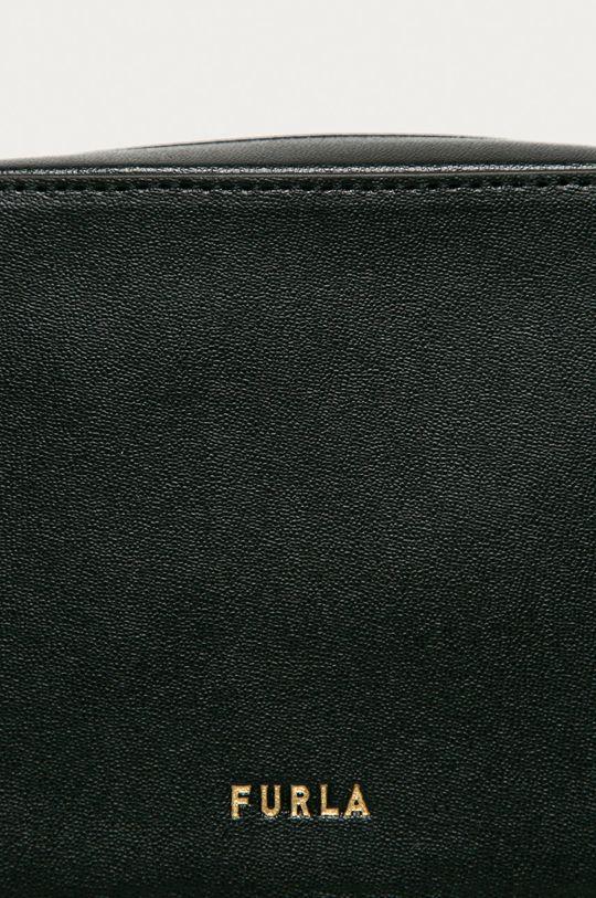 Furla - Borseta de piele Block negru
