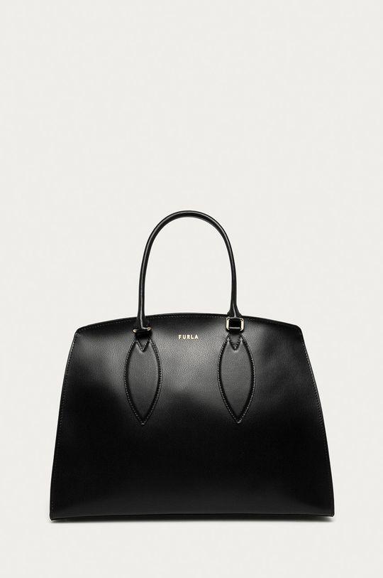 černá Furla - Kožená kabelka Doris Dámský