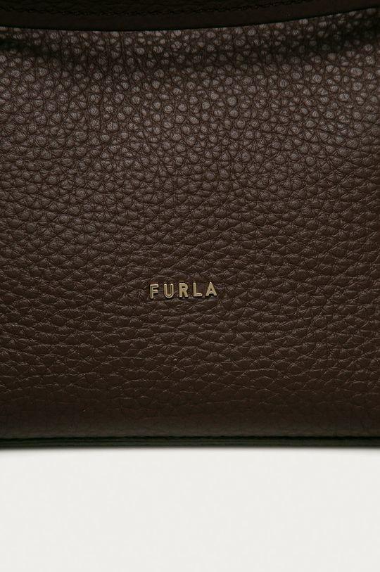 Furla - Kožená kabelka Grace zlatohnědá