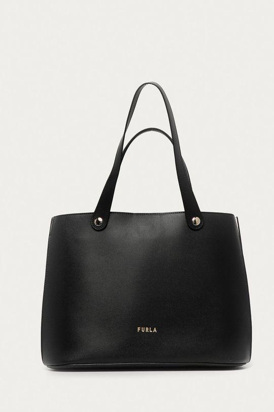 černá Furla - Kožená kabelka Musa Dámský