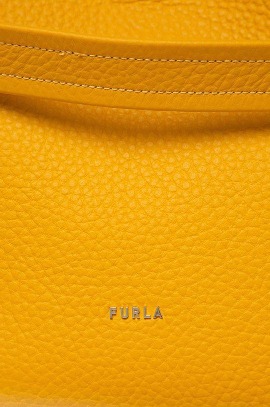 Furla - Torebka skórzana Grace żółty