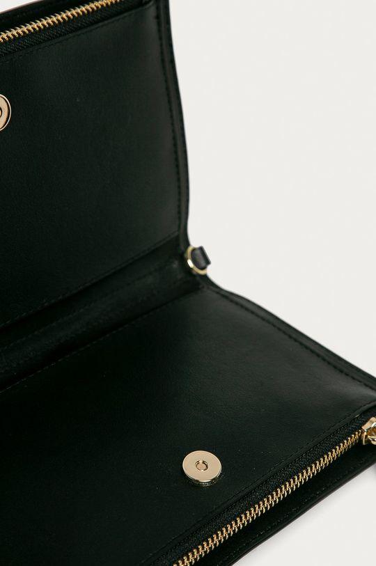 čierna Dkny - Kožená listová kabelka