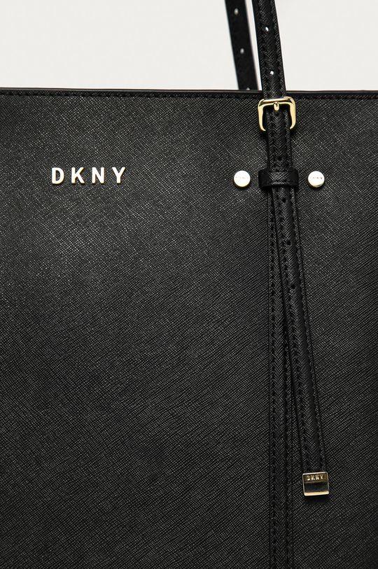 Dkny - Torebka skórzana czarny