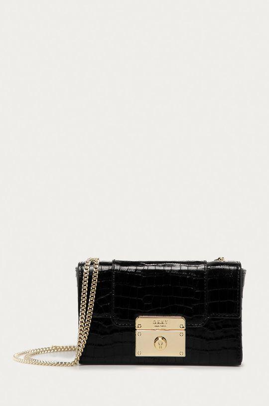 černá Dkny - Kožená kabelka Dámský