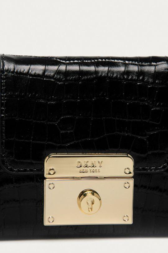 Dkny - Kožená kabelka černá