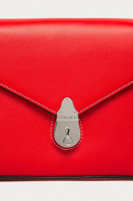 Calvin Klein - Torebka skórzana czerwony