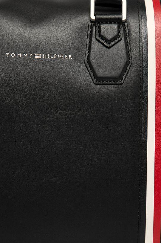 Tommy Hilfiger - Kožená taška černá