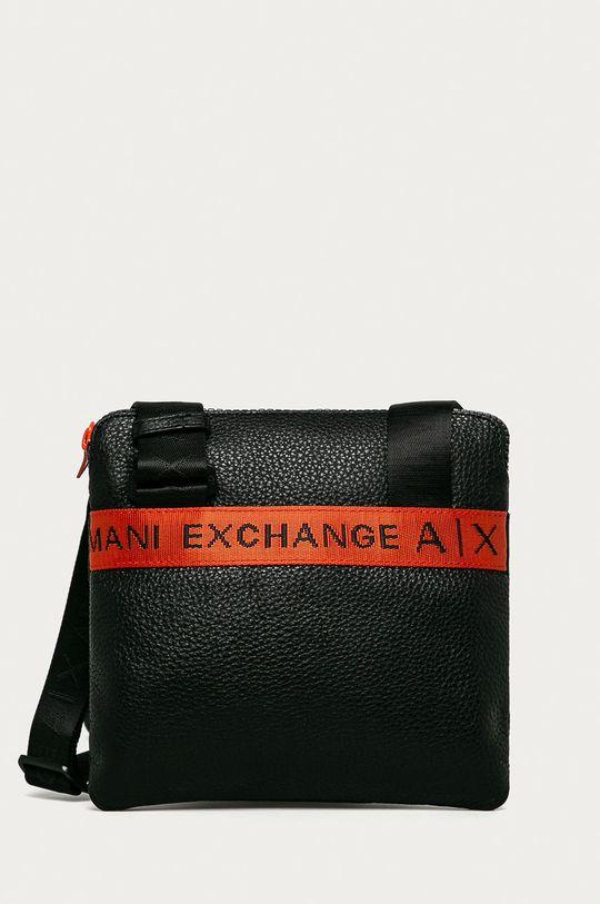 чорний Armani Exchange - Шкіряна сумка Чоловічий