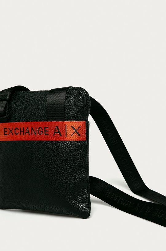 Armani Exchange - Шкіряна сумка чорний