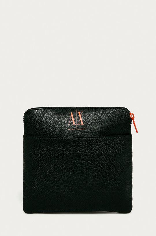 чорний Armani Exchange - Шкіряна сумка