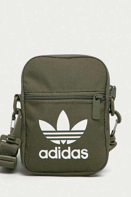 hnedozelená adidas Originals - Malá taška Pánsky