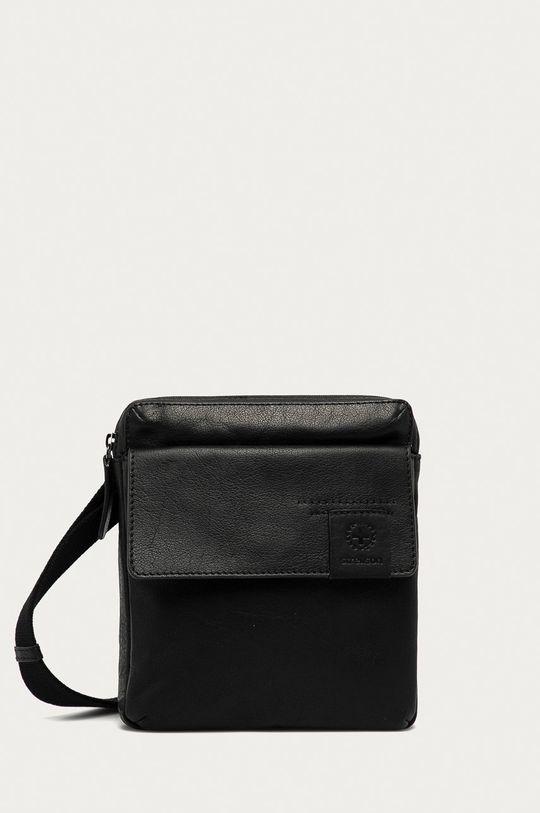 černá Strellson - Kožená taška Pánský