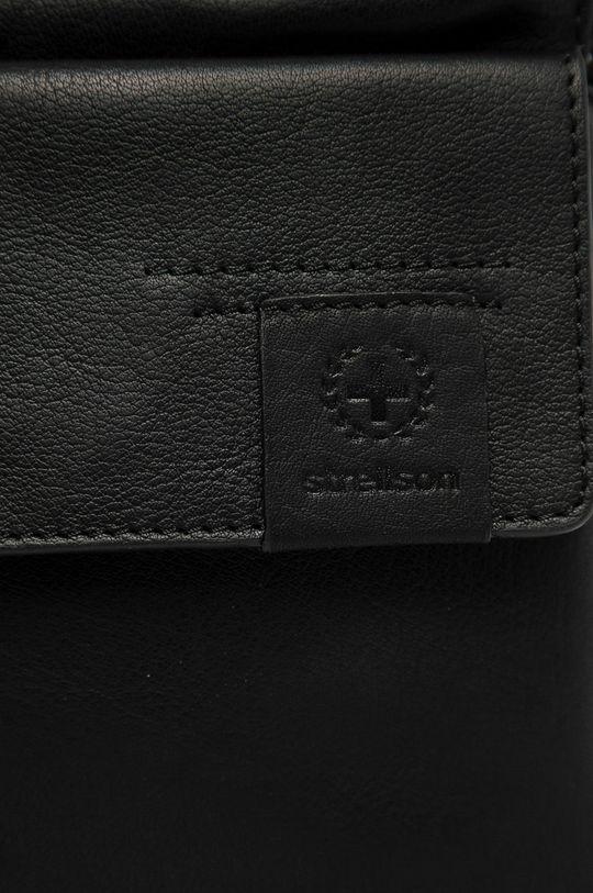 Strellson - Kožená taška černá