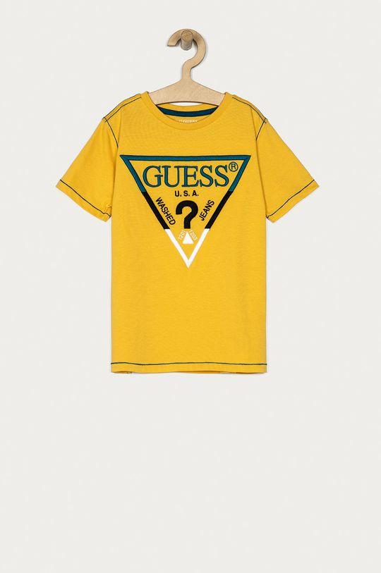 żółty Guess - T-shirt dziecięcy 116-175 cm Chłopięcy