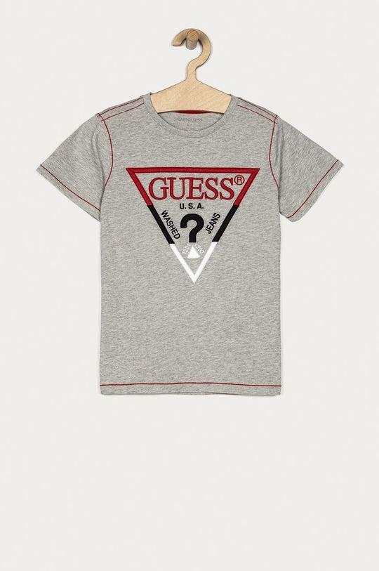 szary Guess - T-shirt dziecięcy 116-175 cm Chłopięcy