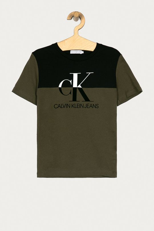 verde murdar Calvin Klein Jeans - Tricou copii 128-176 cm De băieți