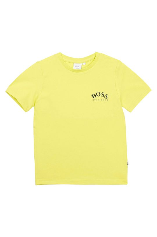 galben – verde Boss - Tricou copii 104-110 cm De băieți
