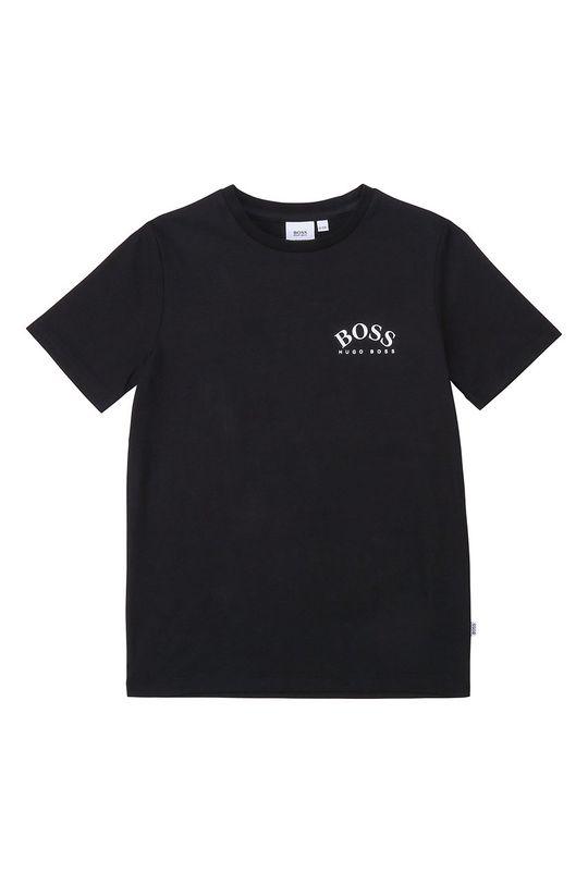 negru Boss - Tricou copii 104-110 cm De băieți