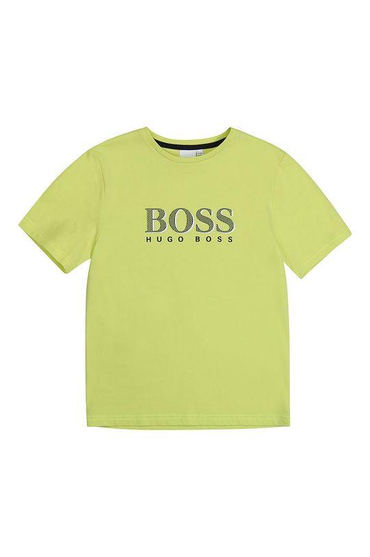 жовто-зелений Boss - Дитяча футболка 164-176 cm Для хлопчиків