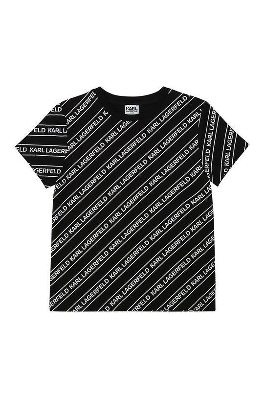 czarny Karl Lagerfeld - T-shirt dziecięcy Chłopięcy
