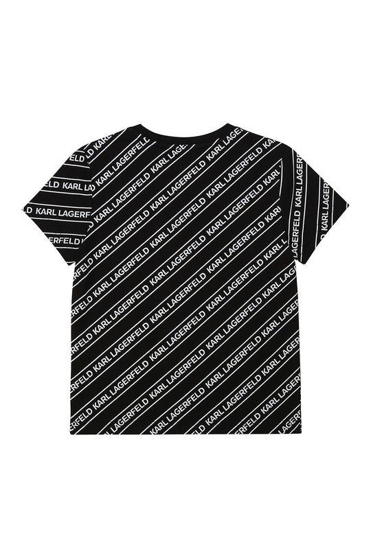 Karl Lagerfeld - T-shirt dziecięcy czarny