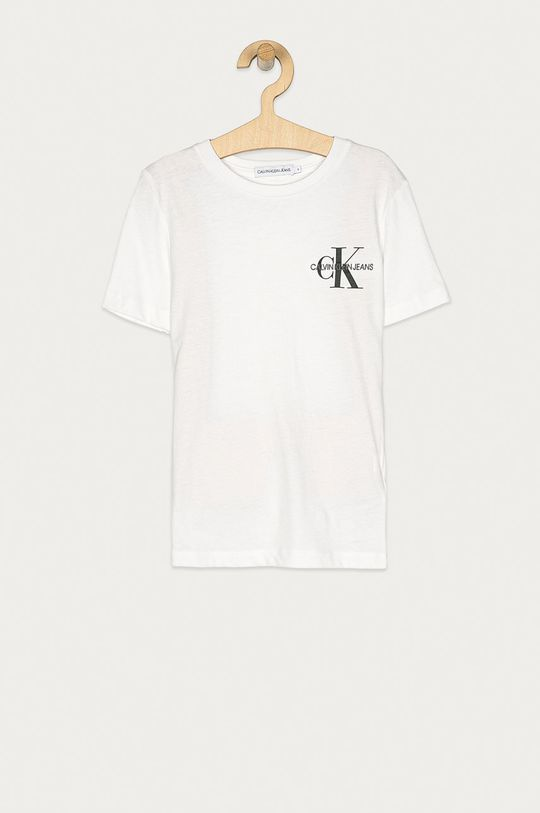 bílá Calvin Klein Jeans - Dětské tričko 128-176 cm Chlapecký
