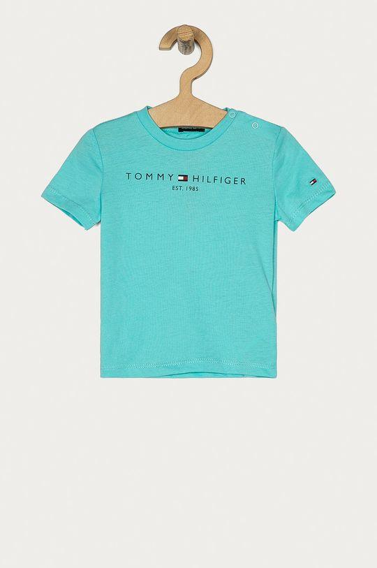 turcoaz palid Tommy Hilfiger - Tricou copii 74-176 cm De băieți