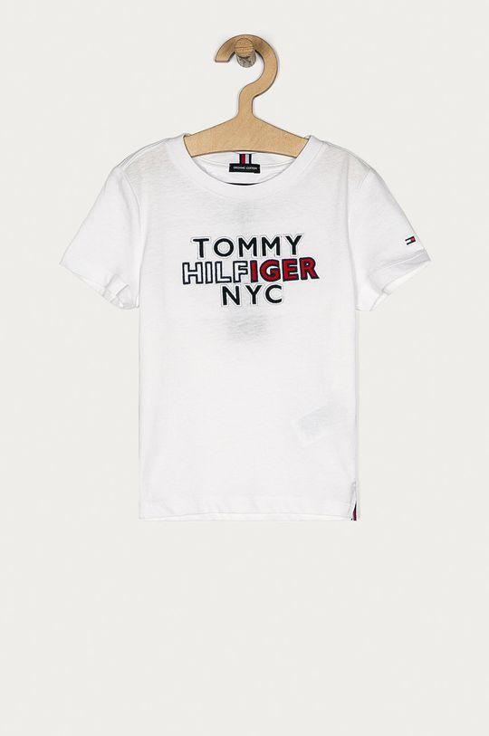 alb Tommy Hilfiger - Tricou copii 98-176 cm De băieți