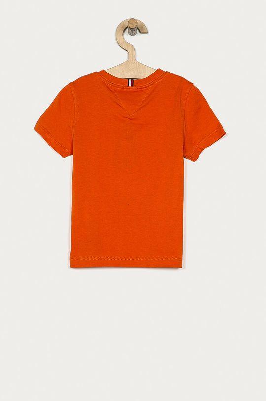 Tommy Hilfiger - T-shirt dziecięcy 104-176 cm mandarynkowy