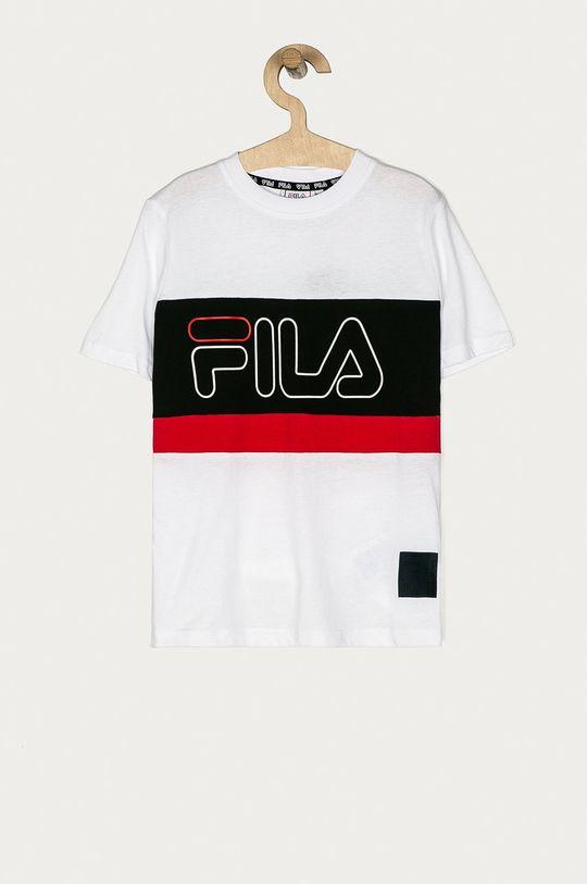 biały Fila - T-shirt dziecięcy 134-164 cm Chłopięcy