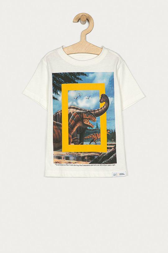 alb GAP - Tricou copii X National Geographic 74-110 cm De băieți