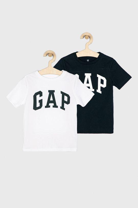 biela GAP - Detské tričko s dlhým rukávom 104-176 cm (2-pak) Chlapčenský