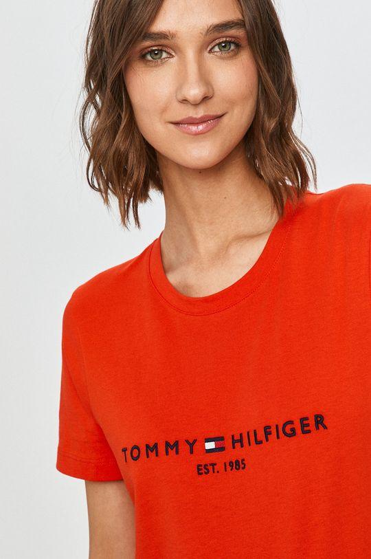 mandarinková Tommy Hilfiger - Tričko