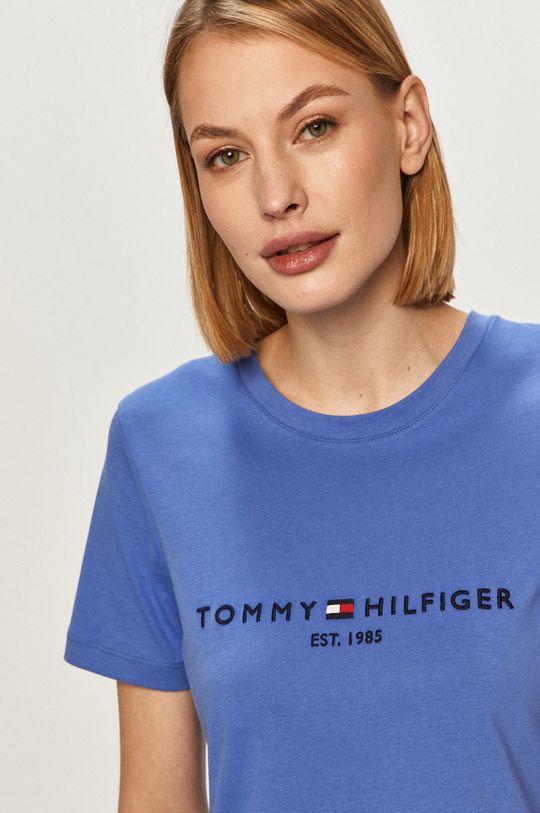 niebieski Tommy Hilfiger - T-shirt Damski