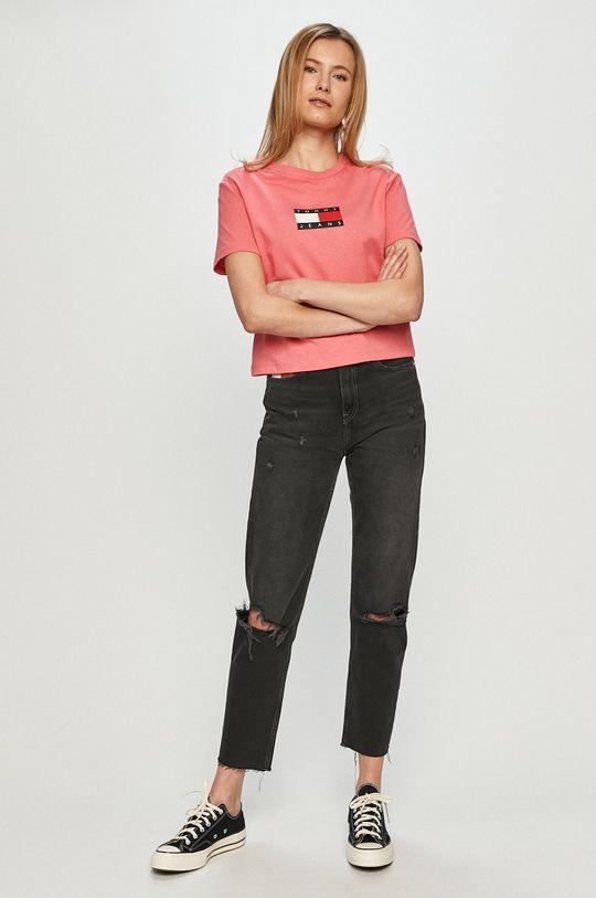 Tommy Jeans - T-shirt różowy