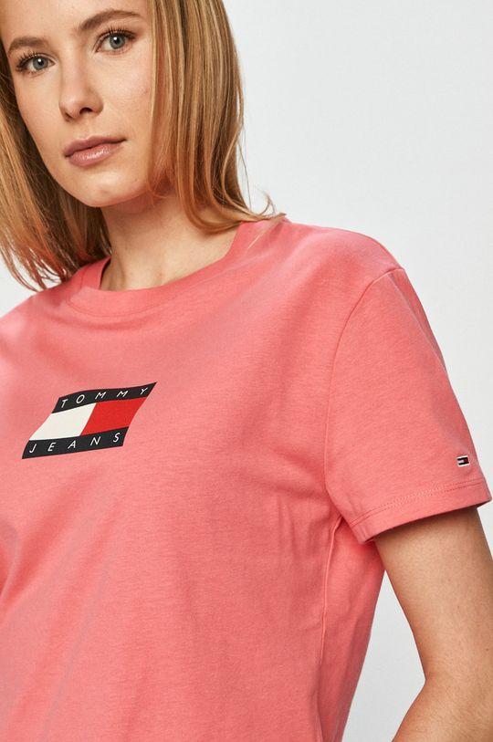 różowy Tommy Jeans - T-shirt