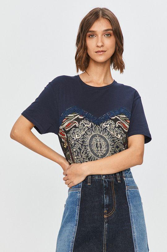 bleumarin Desigual - Tricou De femei