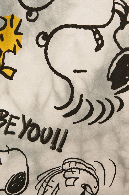 gri deschis Desigual - Tricou x Peanuts