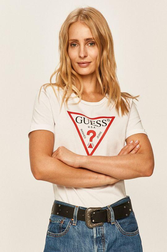 biały Guess Jeans - T-shirt Damski