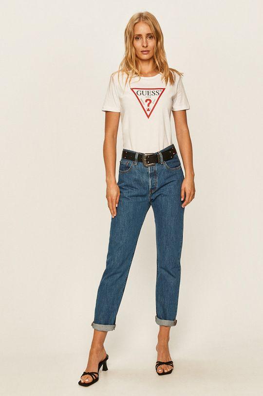 Guess Jeans - T-shirt biały