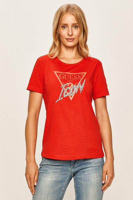 červená Guess Jeans - Tričko Dámsky