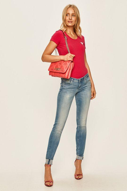 Guess Jeans - Tričko růžová