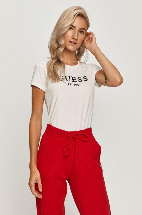 alb Guess Jeans - Tricou De femei