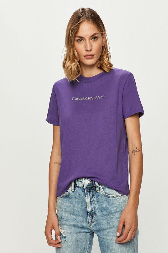 fialová Calvin Klein Jeans - Tričko Dámsky