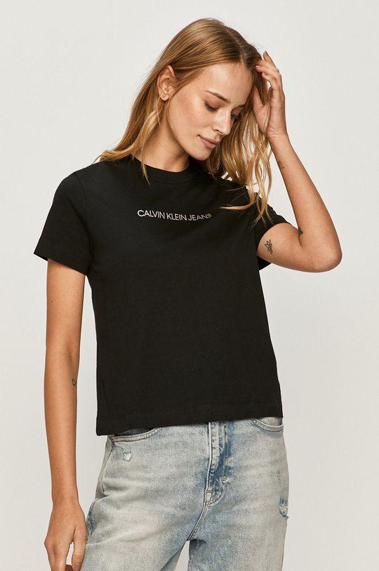 čierna Calvin Klein Jeans - Tričko Dámsky