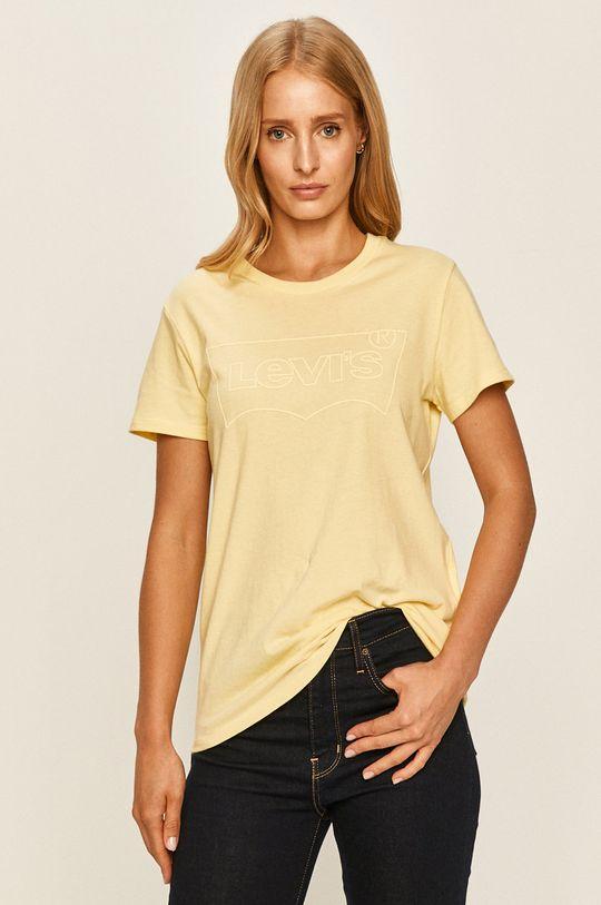 jasny żółty Levi's - T-shirt Damski