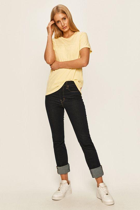Levi's - T-shirt jasny żółty
