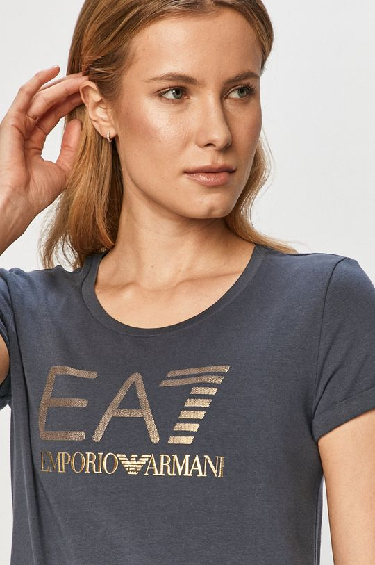 tmavomodrá EA7 Emporio Armani - Tričko