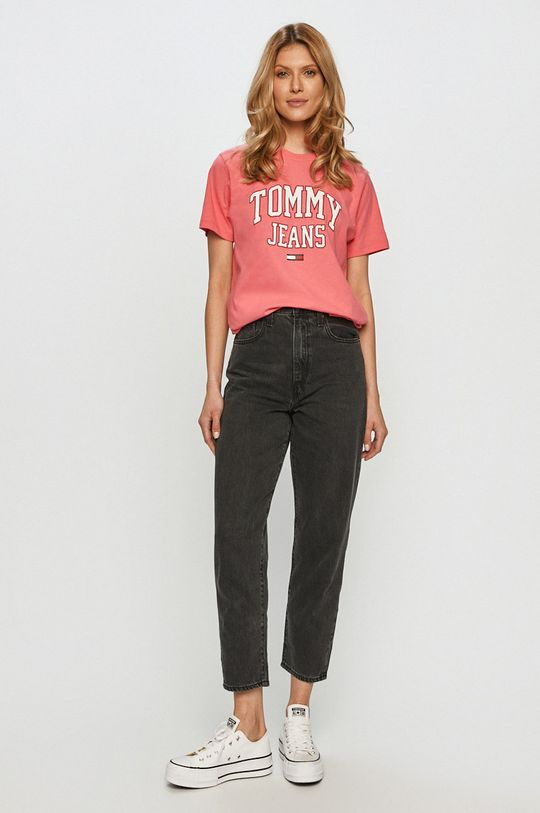 Tommy Jeans - Tricou roz
